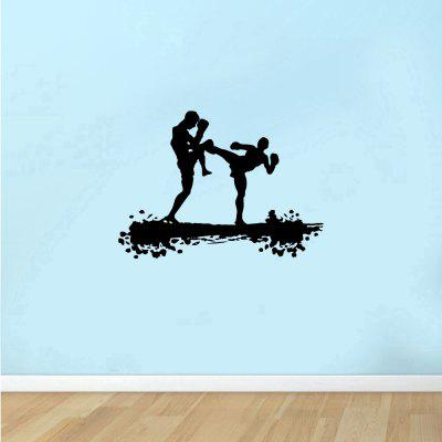 Boxing Fitness Sports Home Background Wall Decoration Removable Sticker
