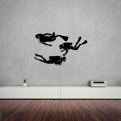 Frogman Swimming Fitness Sports Home Decoración de fondo Etiqueta extraíble