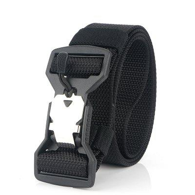 New Nylon Belt Casual Men'S Tactics Plastic Magnet Function Buckle Belt