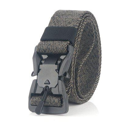 New Magnetic Snake Buckle Tactical Belt Men'S Military Training Nylon Belt