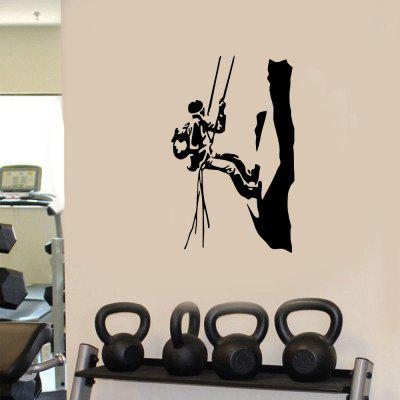 Rock Climbing Fitness Sports Home Background Wall Decoration Removable Stickers