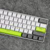 61 Key PBT  Keycaps ANSI Layout for Mechanical Keyboards Backlit - YELLOW GREEN