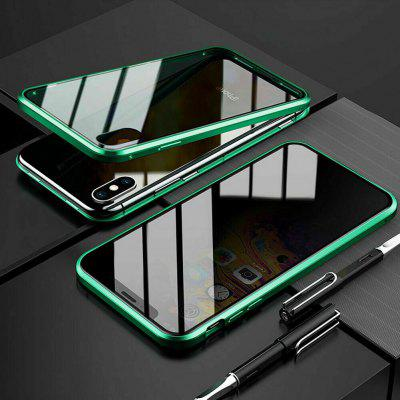 360 Degrees Double Tempered Glass Anti-Spy Privacy Phone Case Cover for iPhone X
