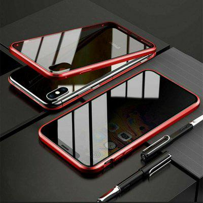 Double Tempered Glass Anti-Spy Privacy Phone Case Cover for IPhone XR