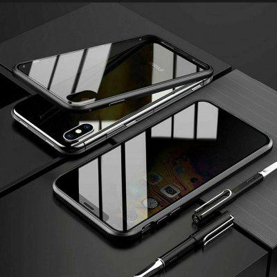 Double Tempered Glass Anti-Spy Privacy Phone Case Cover for IPhone XS