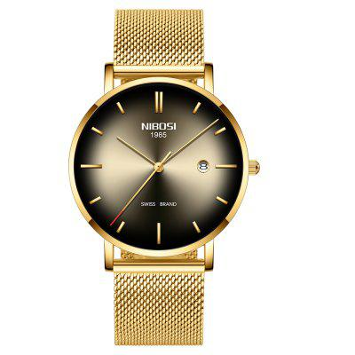 NIBOSI Watch Men Simple Fashion Swiss Brand Reloj de cuarzo de lujo creativo