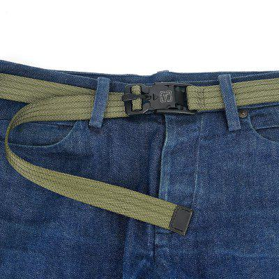 New Casual Man Belt Environmental Protection Nylon Magnetic Buckle Belt
