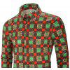 Men's  Autumn and Winter Casual Fashion Funny Print Long-Sleeved Shirt - MULTI-A