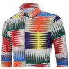 Men's  Autumn and Winter Casual Fashion Funny Print Long-Sleeved Shirt - MULTI-C