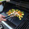BBQ Grill Sheets Thick Non-stick Mat - BLACK