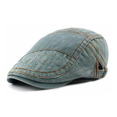 Fashion Cotton Washed Denim Beret Cap + Adjustable for 56-59CM
