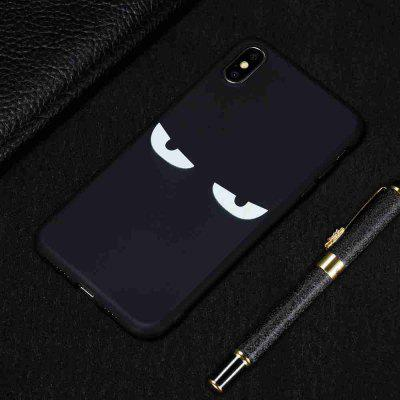 TPU Black Bottom Painted Phone Case for  iPhone XS / X