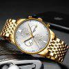 NIBOSI 2368 Men's Watches Military Luxury Brand Quartz  Watch Mens - GOLD