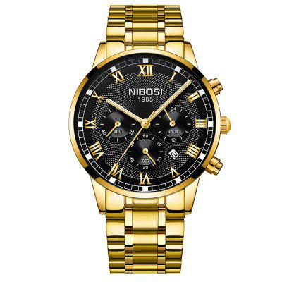 NIBOSI Mens Watches Top Brand Luxury  Quartz Men Watch