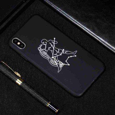 TPU Black Bottom Painted Phone Case for  iPhone X/XS