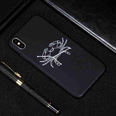 B TPU Black Bottom Painted Phone Case for  iPhone XR
