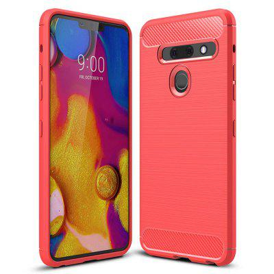 Luxury Carbon Fiber Soft Phone Case for LG G8 ThinQ / G8s ThinQ, Gearbest  - buy with discount