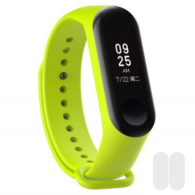 Silicone Wristband with 2pcs Screen Protective Film for Xiaomi Mi Band 4