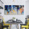 QINGYAZI HQ038 Hand-Painted Abstract Oil Painting Home Wall Art Painting - CADETBLUE