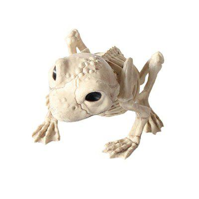 Halloween Spooky Skull Animal Skeleton Frame Frog