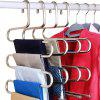S-Shape Stainless Steel Clothes Hangers Space Saving 10pcs - SILVER