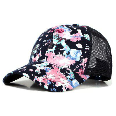 Flower Print Cap Visor Baseball Cap + Adjustable for 56-59CM