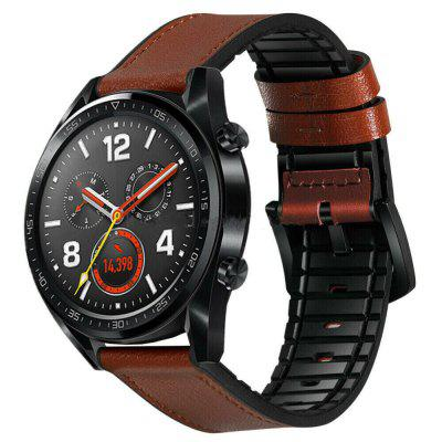 Leather Silicone Watch Band Strap For Huawei Watch GT / Watch 2 Pro / Magic