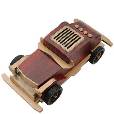 New Wooden Retro Old Car Wireless Mini Bluetooth Speaker TF Card USB AUX FM