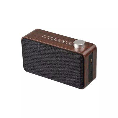 Portable Durable Wooden Home Wireless Phone Touch Bluetooth Speaker Metal Button
