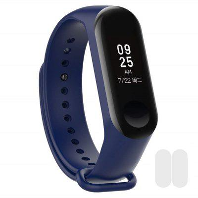 Silicone Wristband with 2pcs Screen Protective Film for Xiaomi Mi Band Wristband