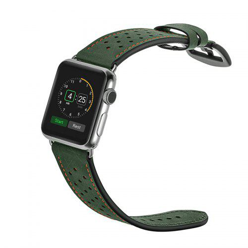 Genuine Leather Sport Watch Band Wrist Strap for Apple Watch Series 4 3 2 1