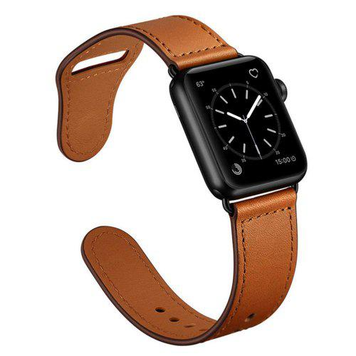 Genuine Leather Sport Watch Band Strap for Apple Watch Series 4 3 2 1