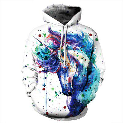 Autumn and Winter Men's Digital Animal Long-Sleeved Printed Sweater