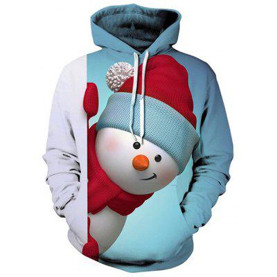 Autumn and Winter Men's Digital Snowman Long-Sleeved Printed Sweater