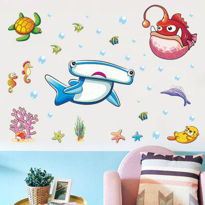 Lantern Fish Undersea Story Home Background Decoration Removable Sticker