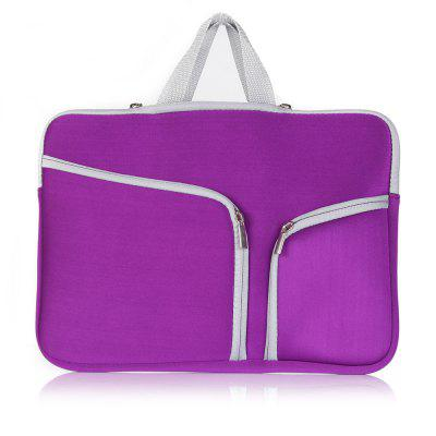 High-End Multi-Function Dual-Pocket Zipper Portable Laptop Bag for 15inch