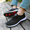 Casual Mesh Men's Shoes Fashion Sports Running Hiking Shoes Men's Comfortable - BLACK