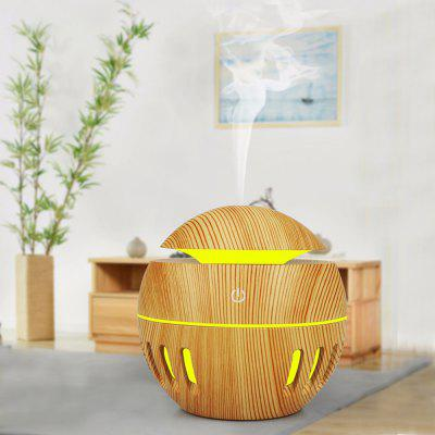 LED Colorful Wood Grain Aromatic Humidifier Air Diffusion Purifier Atomizer