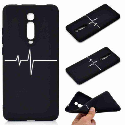 A TPU Black Bottom Painted Phone Case for Xiaomi K20