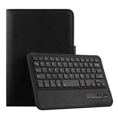CHUMDIY PU Leather Bluetooth Keyboard Cover Case with Stand for iPad Mini 4/5