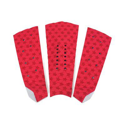 Red Surf Pad EVA Tail Pads Surfplank Surfmat 3ST
