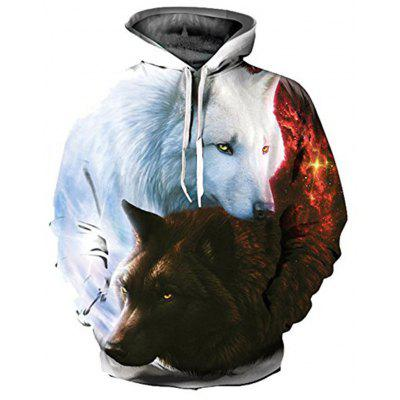 Autumn and Winter Men's Digital Print Long-Sleeved Sweater
