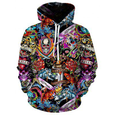 Autumn and Winter Men's Digital Fashion Print Long-Sleeved Sweater