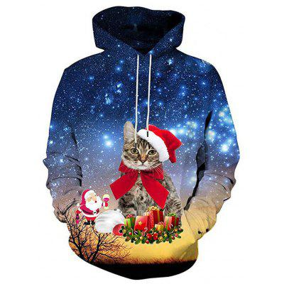 Autumn and Winter Men's Digital Print Long-Sleeved Fashion Sweater