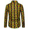 Men's  Autumn and Winter National Wind Long Sleeve Large Size Casual Shirt - MULTI-K