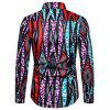Men's  Autumn and Winter National Wind Long Sleeve Large Size Casual Shirt - MULTI-S