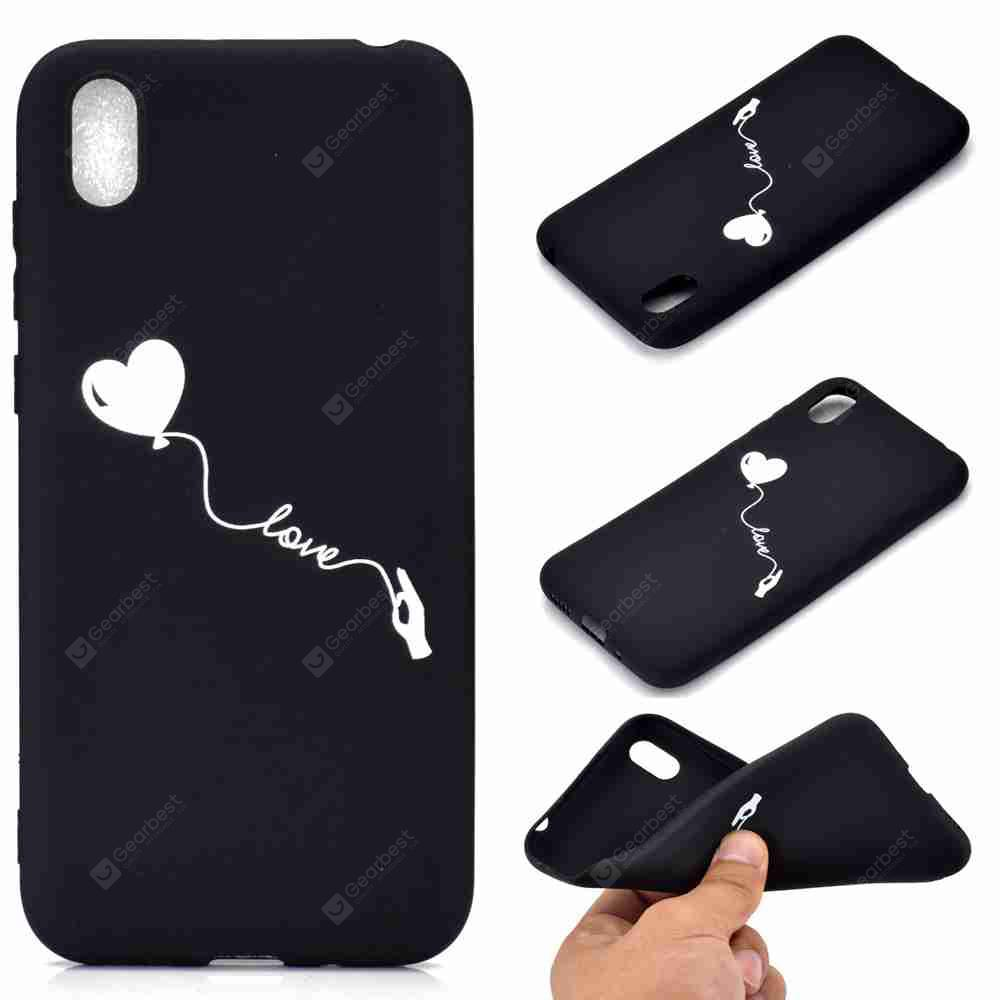 A TPU Black Bottom Painted Phone Case for Huawei Honor 8S / Y5 2019