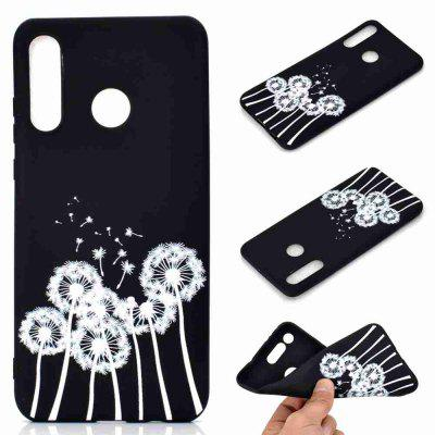 A TPU Black Bottom Painted Phone Case for Huawei P30 LITE