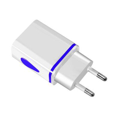 Langlebig mini 2-port led usb eu stecker ladeadapter für android tablet handys