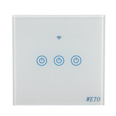 WETO Wi-Fi Smart Touch Switch Wi-Fi Časovač Switch Light Touch Switch
